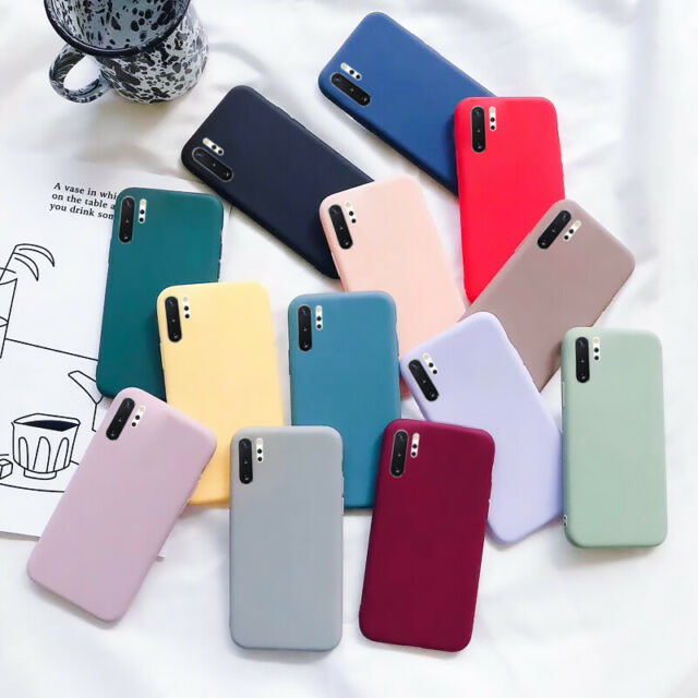 For Samsung Galaxy A70 A50 A21 A11 A01 Slim Silicone Rubber Frosted Cover Case