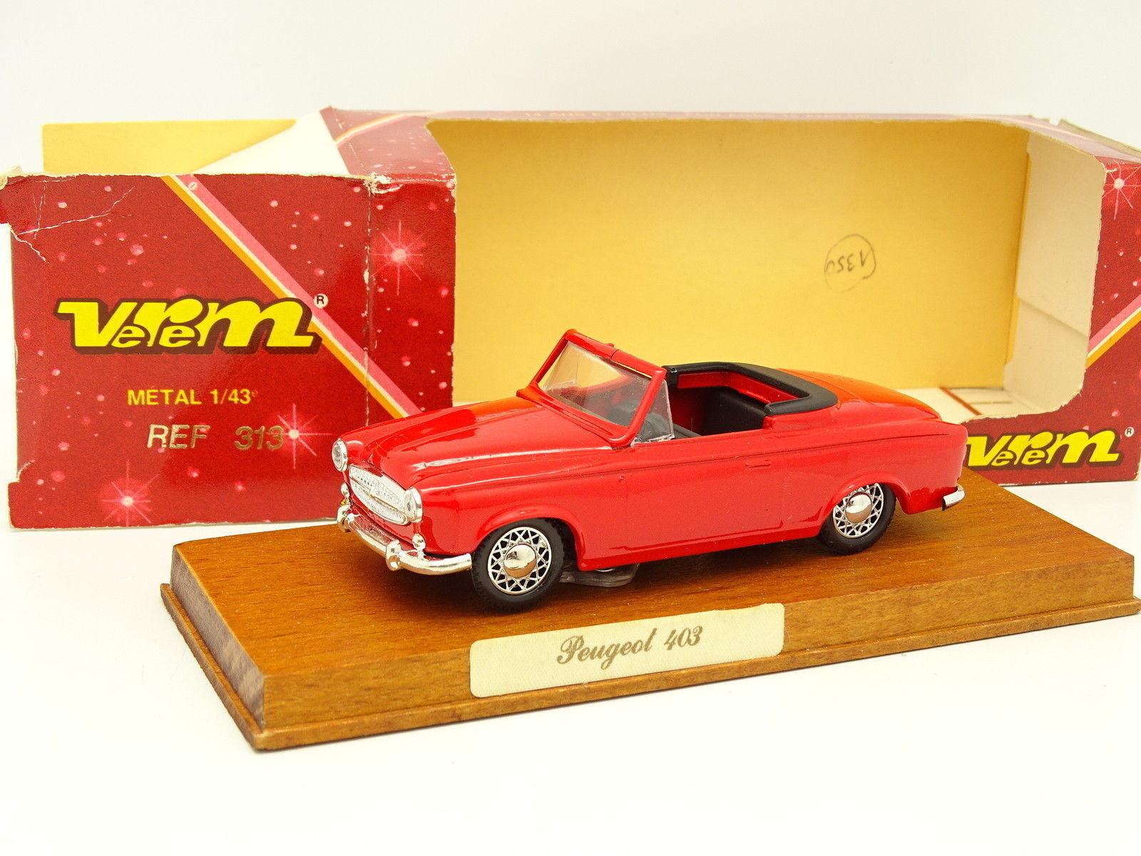 Verem 1 43 - Peugeot Peugeot Peugeot 403 Cabrio red 661b53