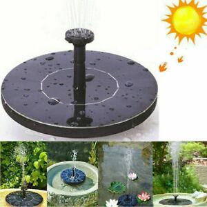 Outdoor-Solar-Powered-Floating-Bird-Bath-Water-Fountain-Pump-Garden-Pond-Pool