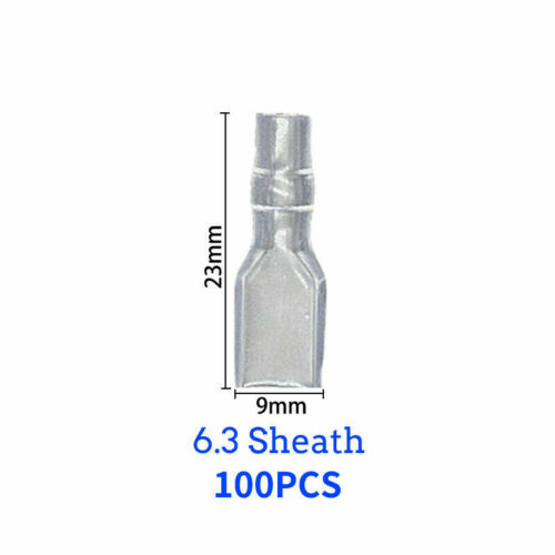100-tlg Flachstecker Kabelschuhe Quetschverbinder Flachsteckhülsen 2,8 4,8 6,3mm