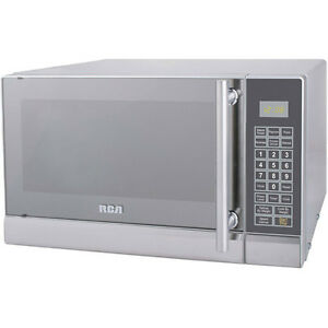 RCA-0-7-cu-ft-Microwave-Oven-10-Power-Levels-Stainless-Steel-Silver-New
