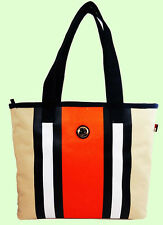 TOMMY HILFIGER TH  Canvas Center Striped Shopper Tote Bag *BRAND NEW WITH TAG*