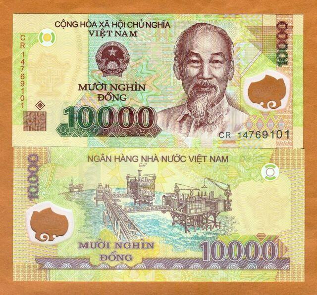 Vietnam 10 000 10000 Dong 2017 Pick 119 Polymer Unc