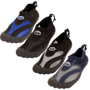 09f51839e Mens Toe Slide Waterproof Shoes Aqua Socks Slip On Mesh Pool Beach ...