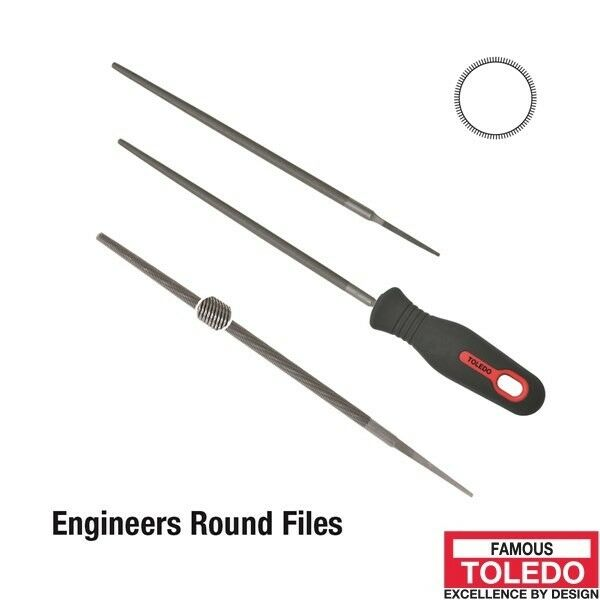 TOLEDO Round File Second Cut - 150mm 12 Pk 06RD02BU x12