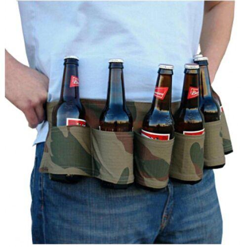 Lot de 6 étui Flacon Portable taille bière Sac Ceinture Vin Boisson Soda Peut Titulaire DS