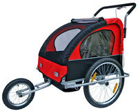2 In 1 Twin Baby Kids Bicycle Trailer Bike Trailer Child Baby Stroller