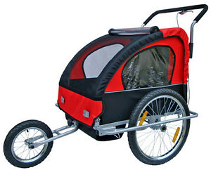 New 2 In 1 Twin Baby Kids Bicycle Trailer Bike Trailer Child Baby