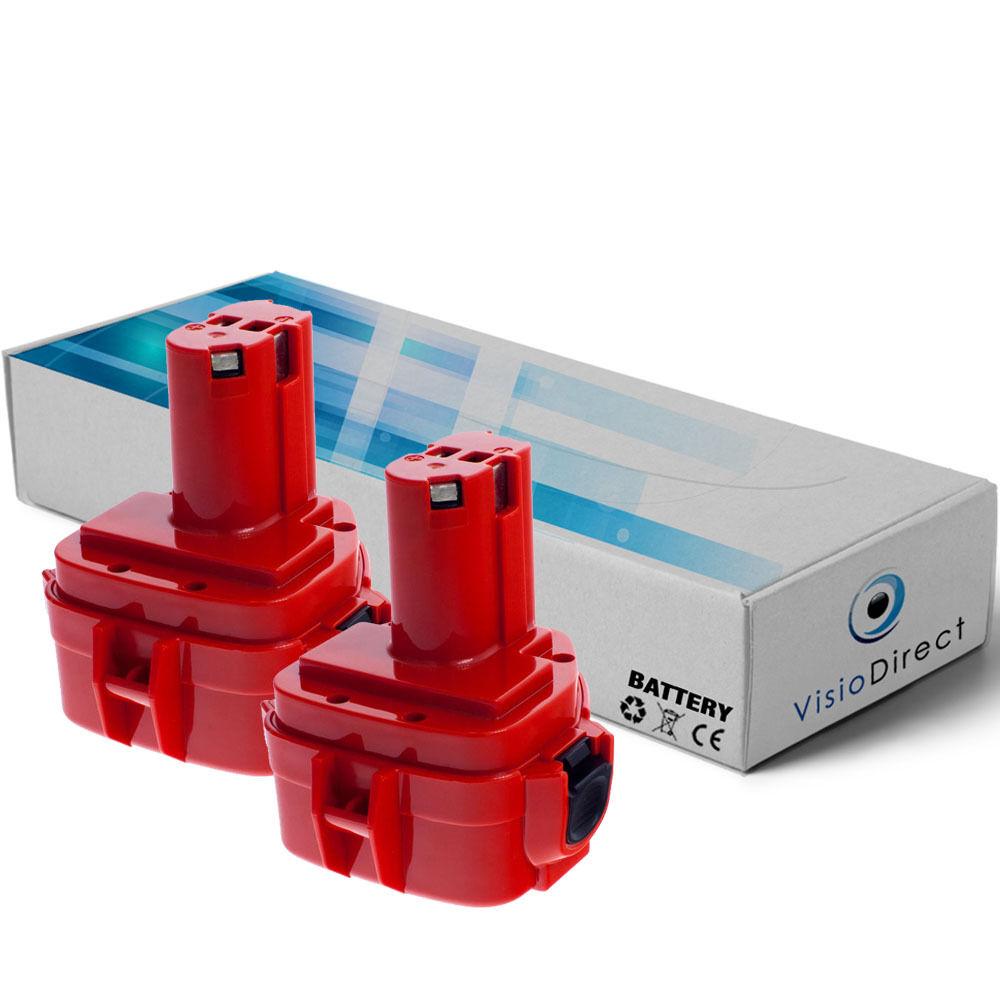 Lot de 2 batteries 12V 3000mAh pour Makita 6918DWFE - Société Française -