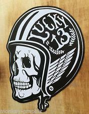 Oldschool Sticker Gentlemen Biker Bobber Aufkleber Lucky13 Harley Chopper USA
