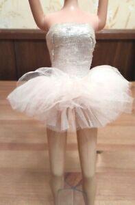 Details about Vintage Barbie #989 Ballerina Silver Lame Tutu