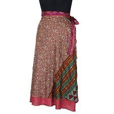 Vintage Style Silk Wrap Skirts Indian Magic Skirt Medium For Girl/Women SWM010