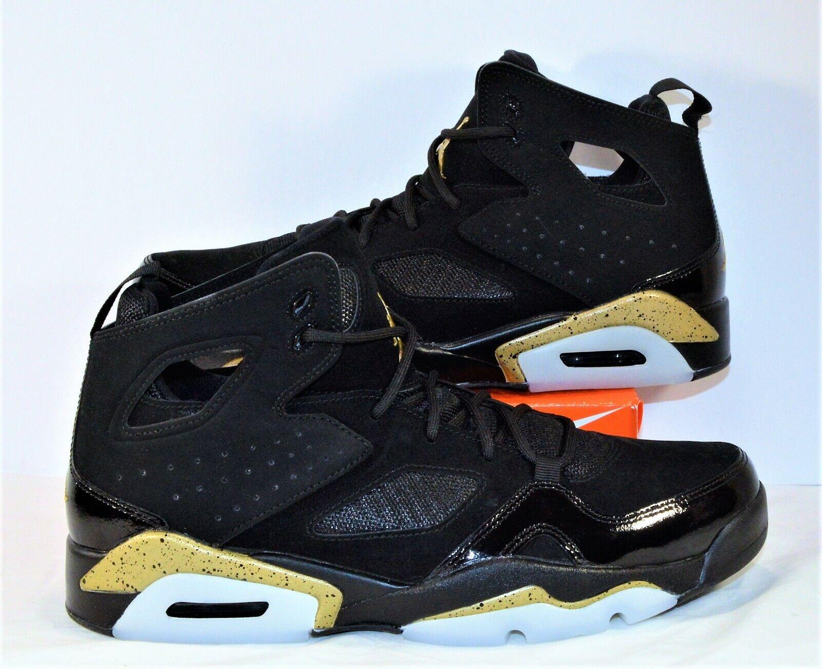 a75d8480ccf Nike Jordan Fight Club 91 Black gold Basketball shoes Sz 9.5 NEW 555475 031  Air ndxsdv3783-Athletic Shoes
