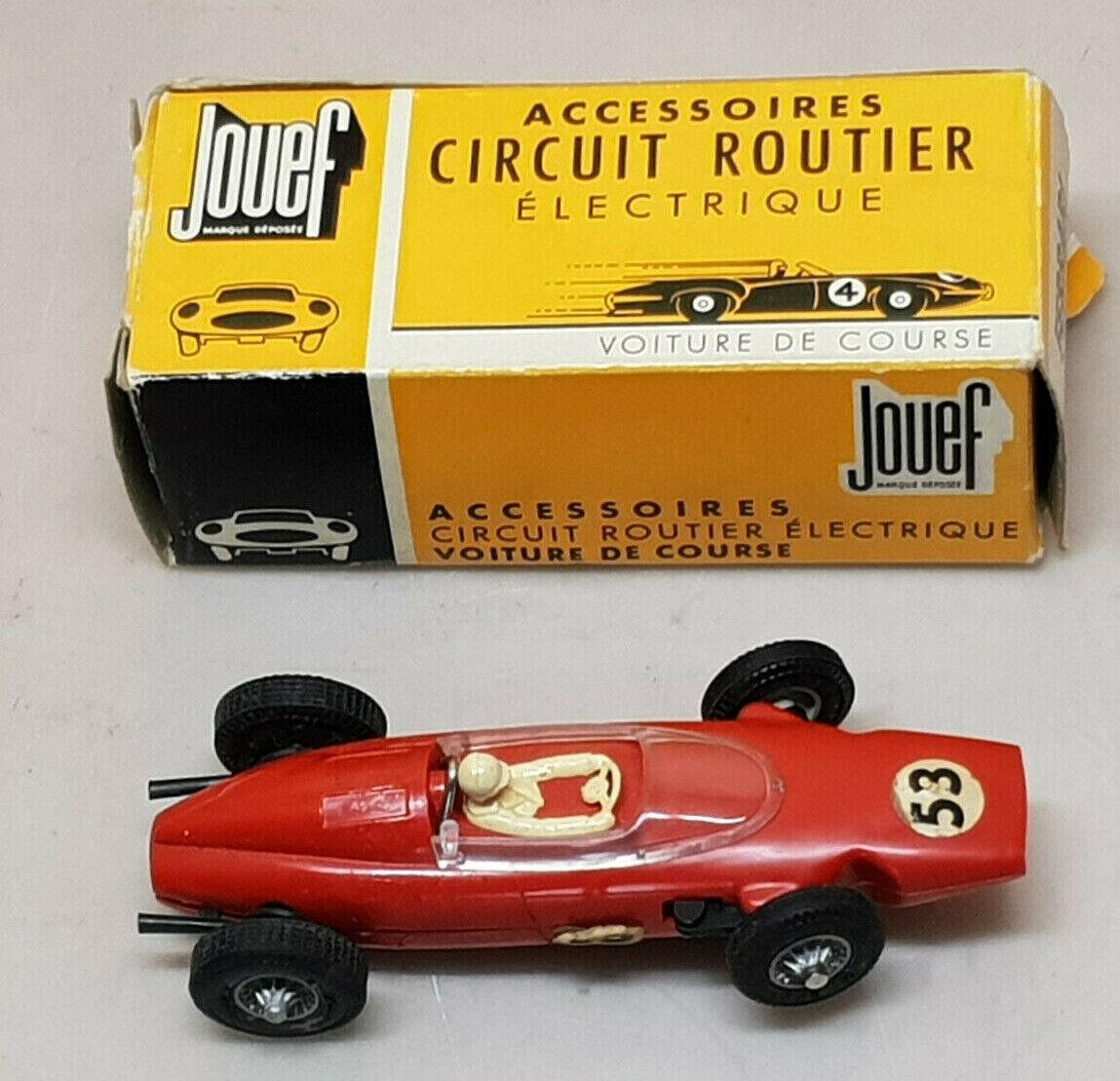 Jouef Rennstrecke Straßenfahrzeug Ferrari Formel 1 Nr°53 Rot + Ovp Ref. 361