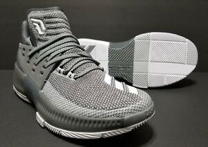 on sale 1c395 5f37f Image is loading Mens-Adidas-Dame-3-Grey-White-Damian-Lillard-