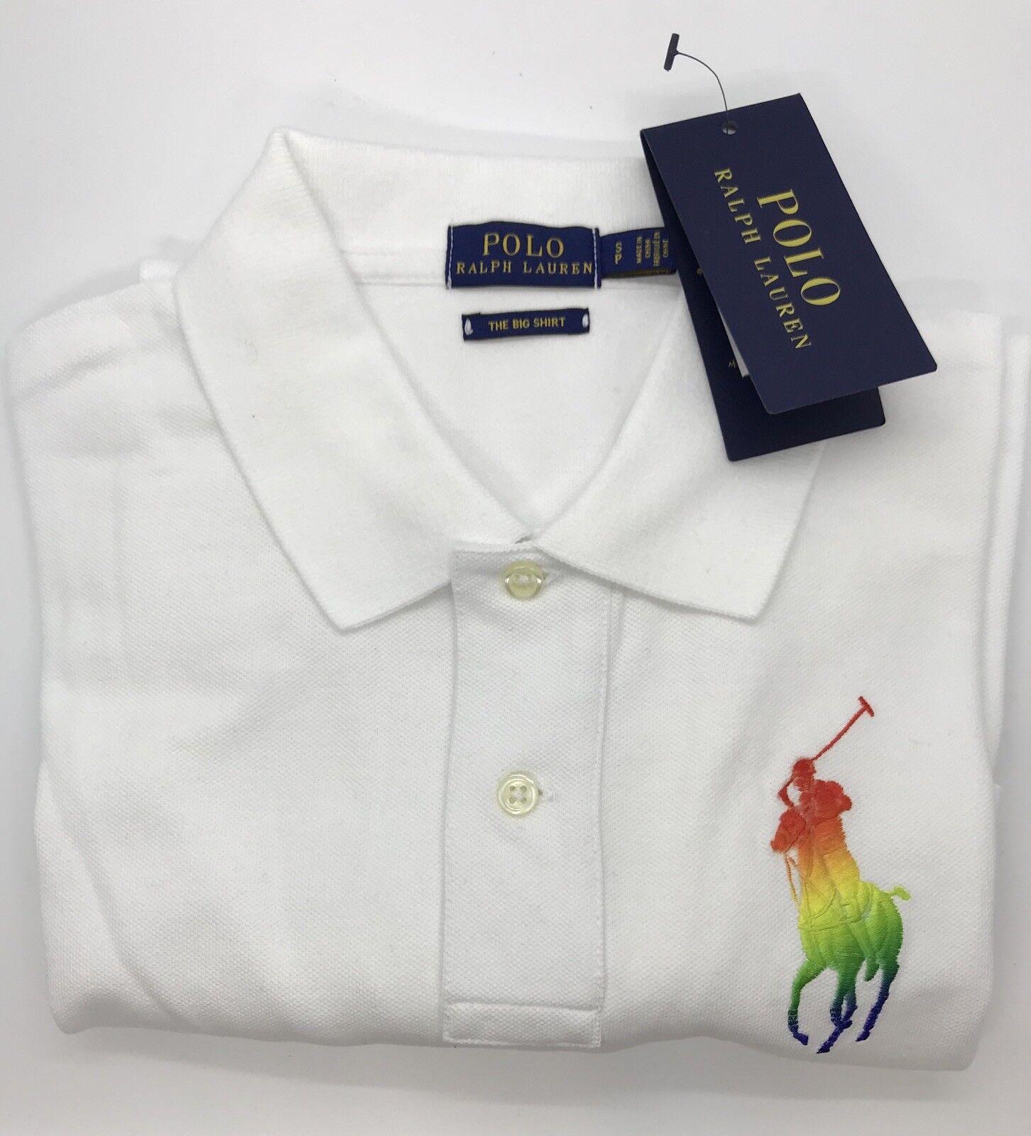 damen's Polo Ralph Lauren Pride Month Rainbow Big Pony Polo Shirt, Größe S