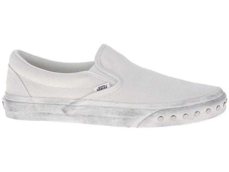 Vans Classic Slip On (Overwashed) blanco de blanco blanco blanco blancoo para Mujer Talla 9.5 76652a