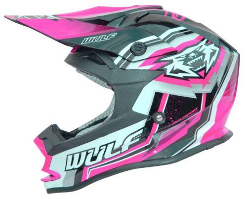 Wulfsport Vantage Kinderhelm Helm pink mit CE-Prüfung NEU Enduro Motocross