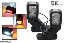 2x STALK SIDE MARKER LED LIGHTS LAMPS WHITE RED AMBER 12V TRAILER TRUCK CARAVAN