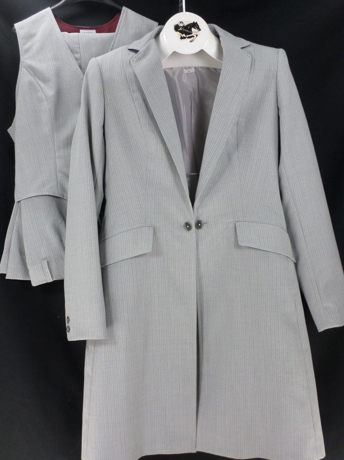 Reed Hill Saddleseat Ld 3p suit  Light grigio Pinstripe s 12  USA