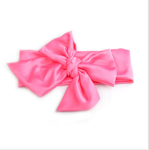 Baby Cotton Big Bow Tie Head Wrap Turban Bowknot Headband Newborn Girl PJB
