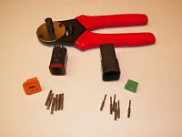 Black Deutsch Dt 6x Connector Kit With Solid Terminal Crimper Tool Male + Female