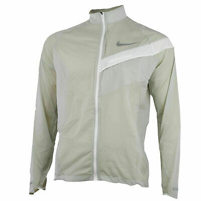 NWT NIKE MEN IMPOSSIBLY LIGHT RUNNING PACKABLE JACKET BEIGE 833612 042  M,L