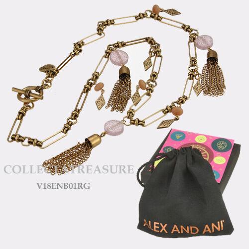 Authentic Alex and Ani Bohemian Rafaelian Gold Charm Necklace