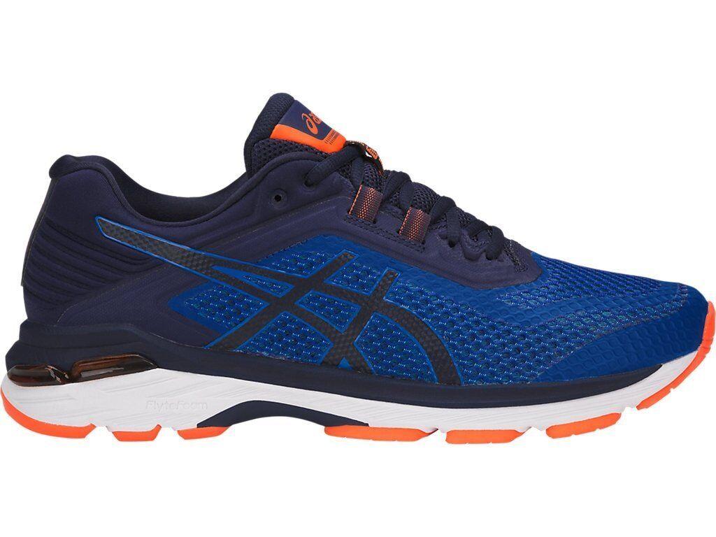 Asics GT-2000 6 Azul Marino naranja MEN Running zapatos 4E extra ancho ancho T807N-4549