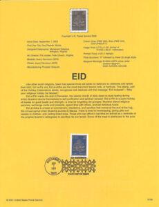 #0139 34c EID Stamp #3532 Souvenir Page