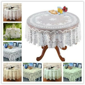 White-Lace-Tablecloth-Rectangle-Round-Vintage-Table-Cloth-Cover-Party-Wedding