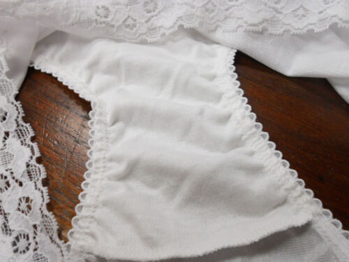 4 prs VANITY FAIR Brief PERFECTLY YOURS LACE 13060 Panty STAR WHITE 6 M