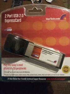StarTech-2-Port-High-Speed-USB-2-0-34mm-ExpressCard-Notebook-Plug-amp-Play-NIP