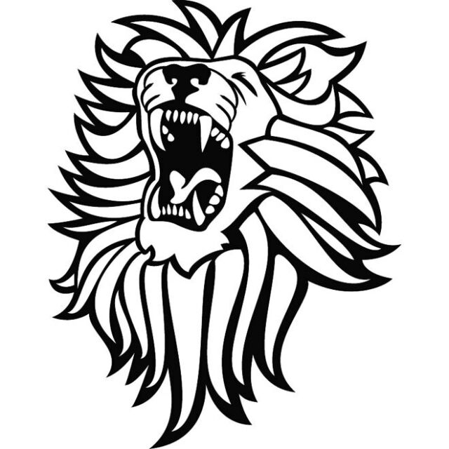 ROARING LION  CAR  DECAL STICKER