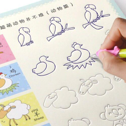 Magic Practice Copybook Be Reused Handwriting Copybook Set for Kid Calligraph