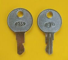 Bd 235 Cash Drawer Keys For Hp Sam4s Ncr Touch Dynamic Wasp Pos Crs Register