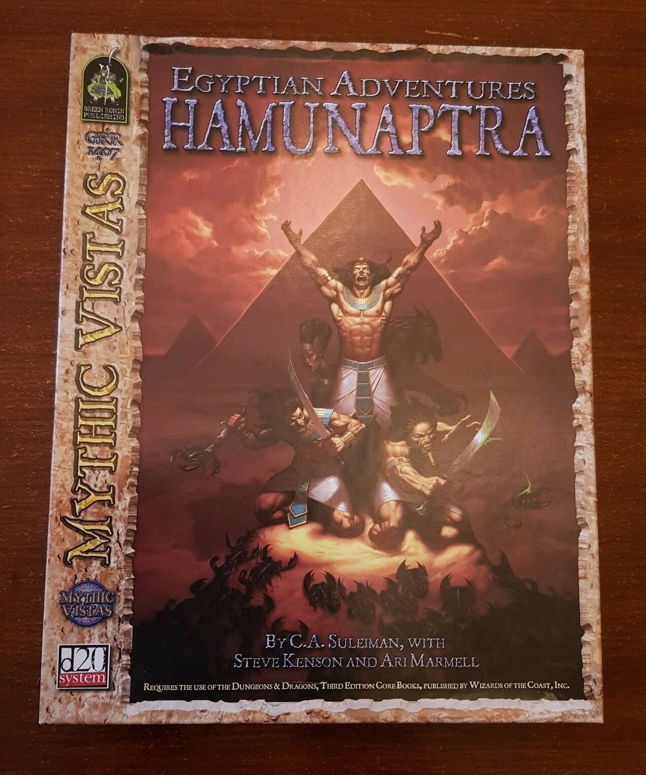 EGYPTIAN ADVENTURES   HAMUNAPTRA - MYTHIC VISTAS RPG D&D 3.5 DND ROLEPLAYING D20