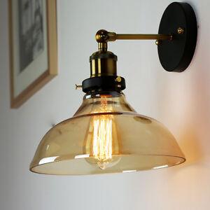 retro wandlampe e27 warmwei nostalgie glas wohnzimmer vintage lampen 230v ebay. Black Bedroom Furniture Sets. Home Design Ideas