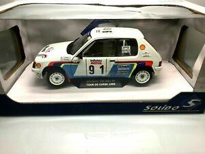Peugeot-205-RALLYE-Phase-1-TOUR-DE-CORSE-1989-LE-BIHAN-au-1-18-SOLIDO-S1801703