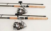 2 Shimano Syncopate 4000 Spinning Reels 7ft Rods