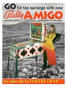factory authentic various design innovative design Details about Bally AMIGO Pinball Machine Flyer Brochure