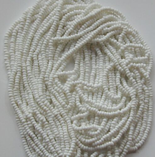 Vintage White Opaque Glass Seed Beads BOGO = Buy 1 Hank and Get 2nd Hank FREE!