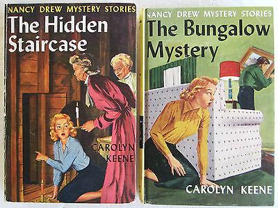 Nancy Drew Lot The Hidden Staircase Bungalow Mystery Early PC Carolyn Keene