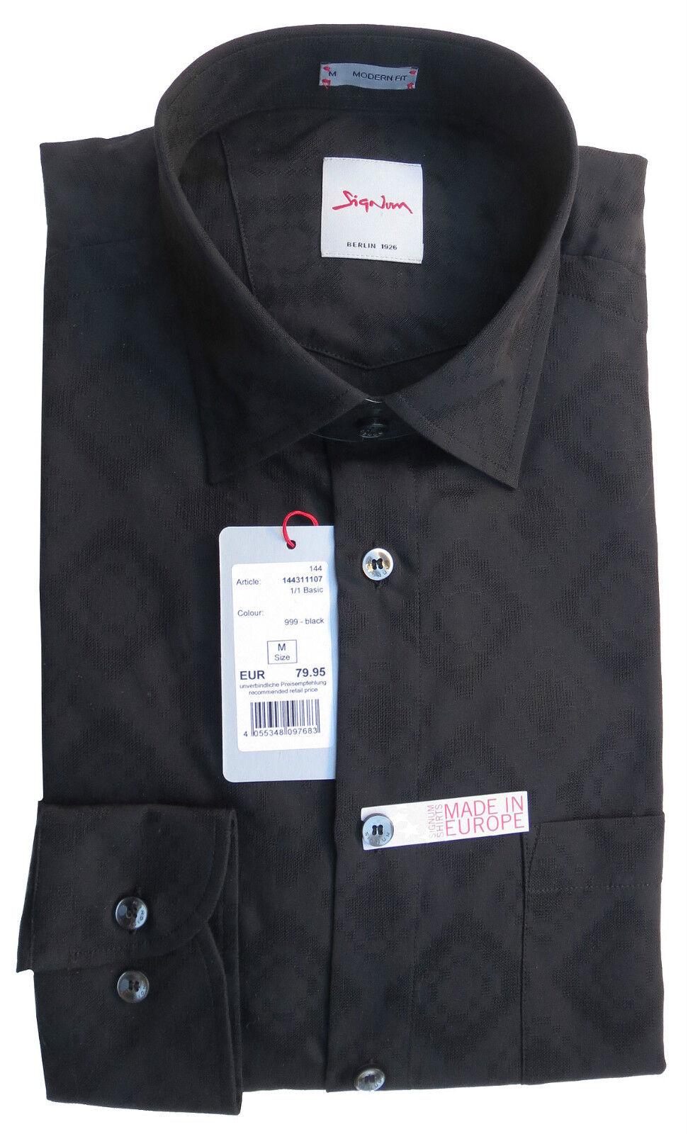 SIGNUM Camicia Manica Lunga Modern Fit Nuovo Nuovo Nuovo Taglia L jaquardwebung s1.1003 86b99b