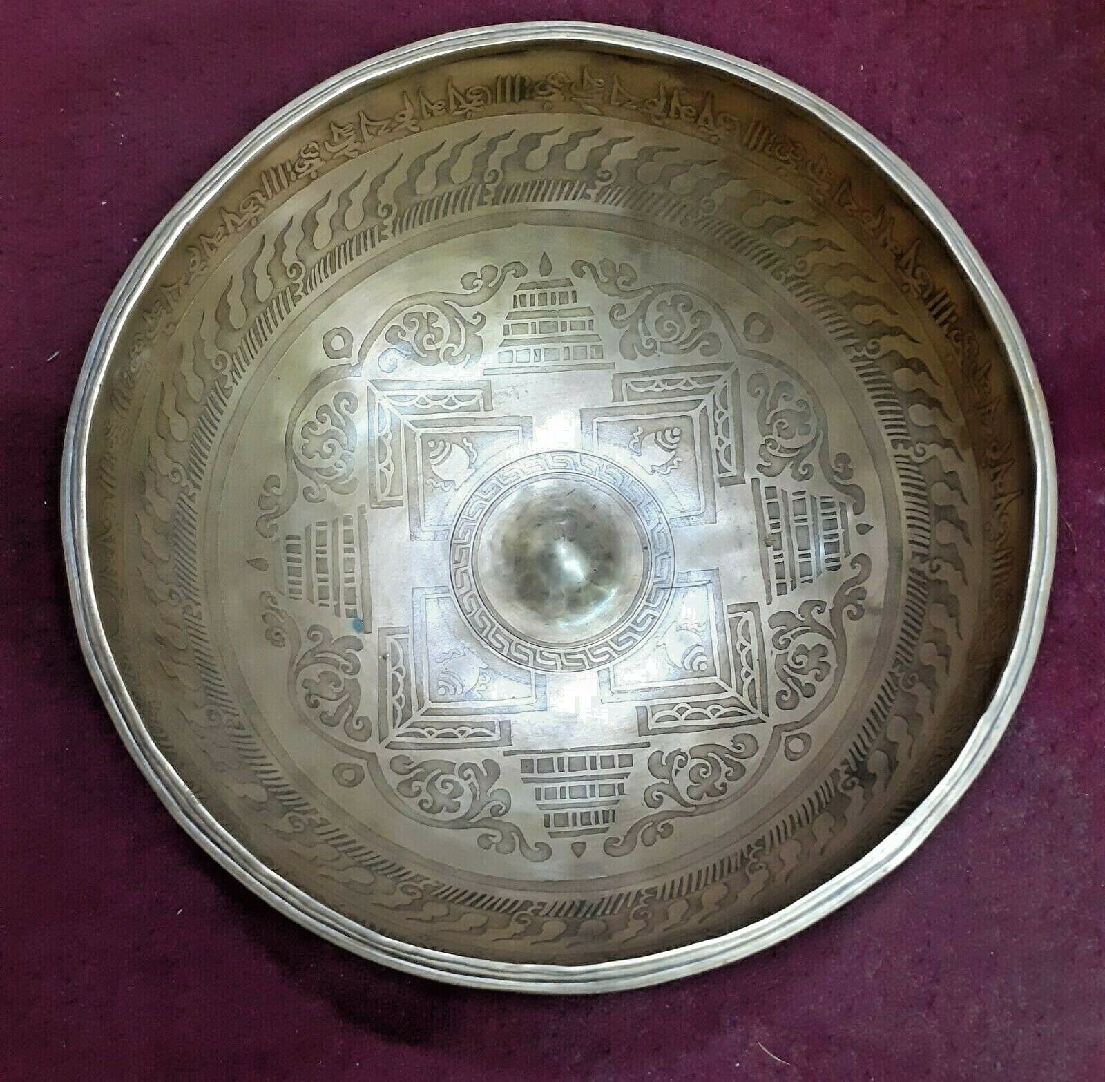 Etched Lingam Hand gemacht Singing Bowl