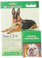 Sure Clot Bio Groom Fast Acting Styptic Powder Quick Stop Antiseptic