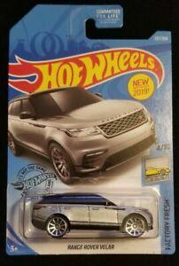 2019 Hot Wheels #237 Factory Fresh 4//10 RANGE ROVER VELAR Silver w//Chrome 10 Sp