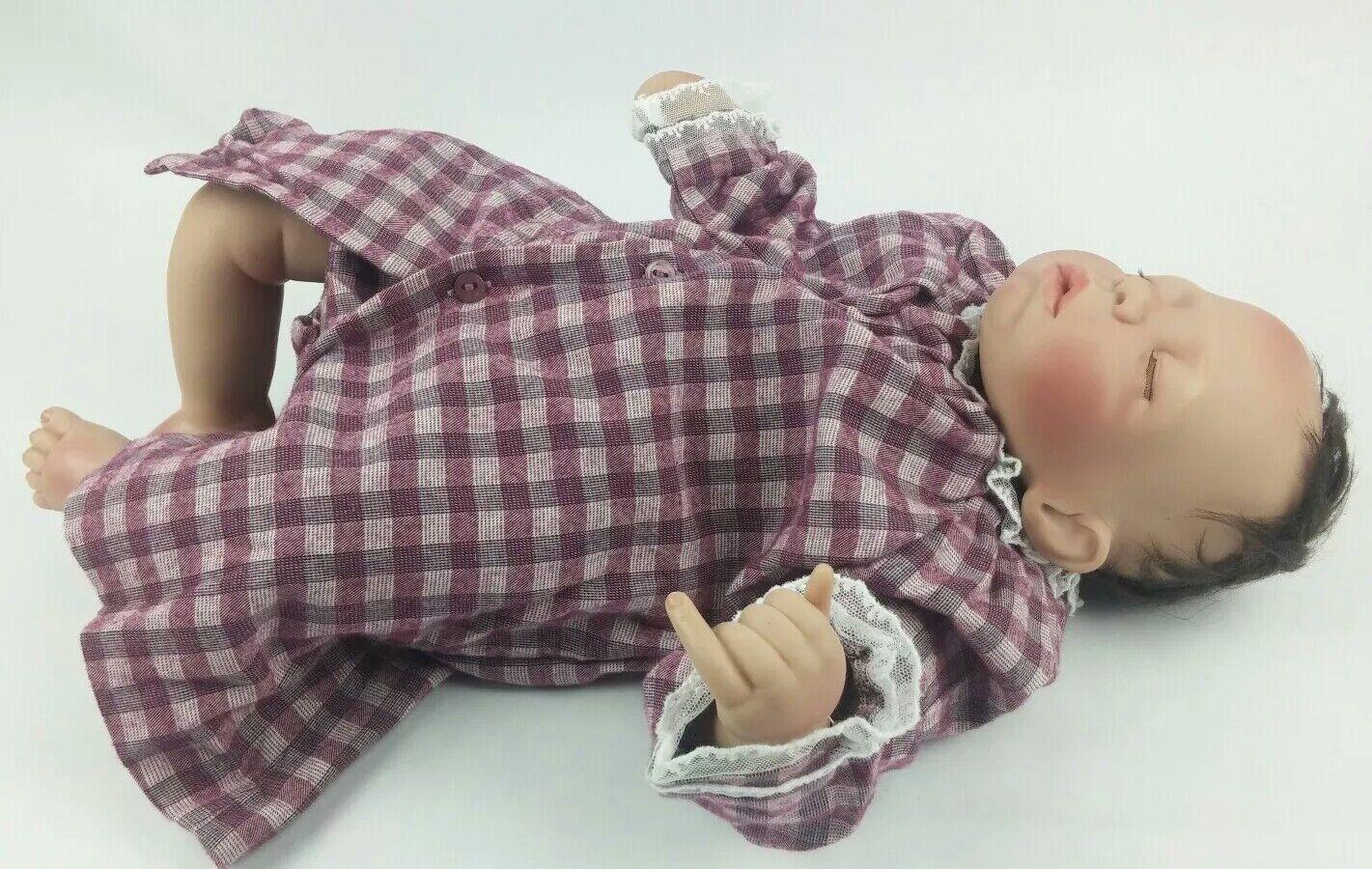 Pat Moulton Niña Bebé Muñeca de silicona para dormir 2005 con Vestido 3 Meses Pili Carrera talla