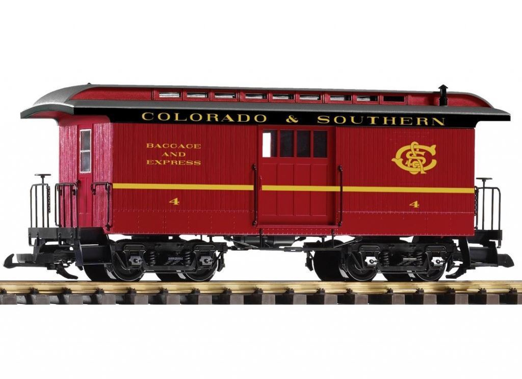 PIKO G SCALE C&S WOOD STYLE BAGGAGE CAR   BN   38647
