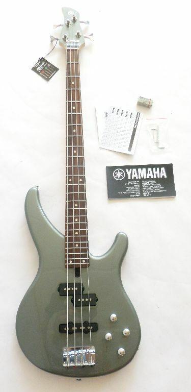 Yamaha TRBX204 Gitarre grau metallic 4 String E-Gitarre E-Bass Holz rechts SG5